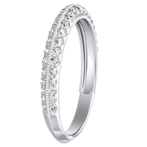 ZOEY Diamond Wedding Ring In 14K White Gold