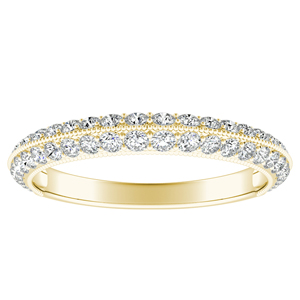 ZOEY Diamond Wedding Ring In 14K Yellow Gold
