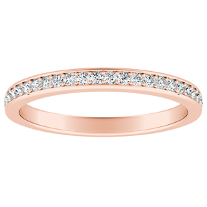 MILA Classic Diamond Wedding Ring In 14K Rose Gold