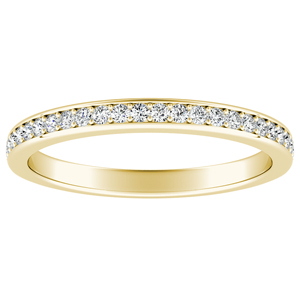 MILA Classic Diamond Wedding Ring In 14K Yellow Gold