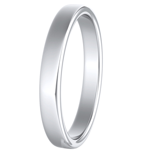 GIOVANNA Classic Wedding Ring In 14K White Gold