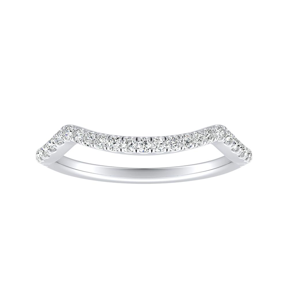MADISON Modern Diamond Wedding Ring In 14K White Gold