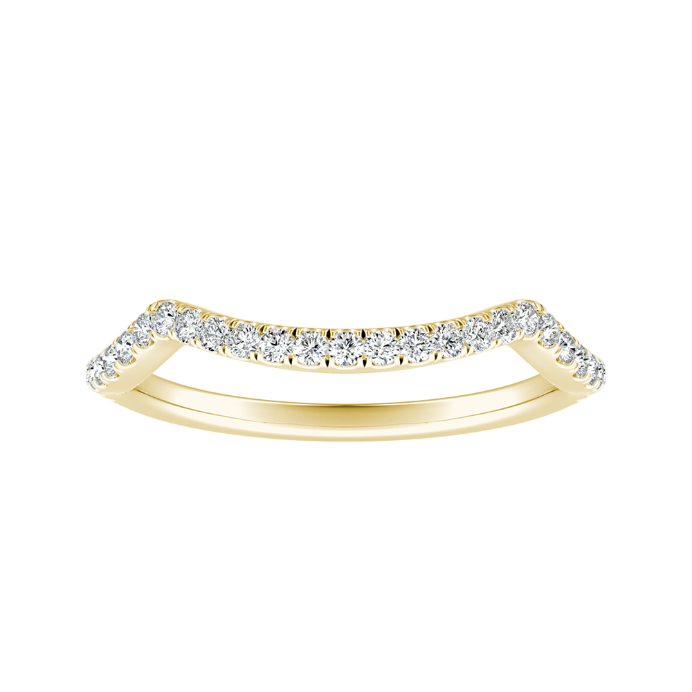 MADISON Modern Diamond Wedding Ring In 14K Yellow Gold