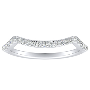 MADISON Modern Diamond Wedding Ring In 14K White Gold