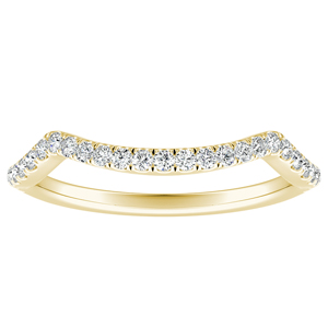 MADISON Modern Diamond Wedding Ring In 14K Yellow Gold