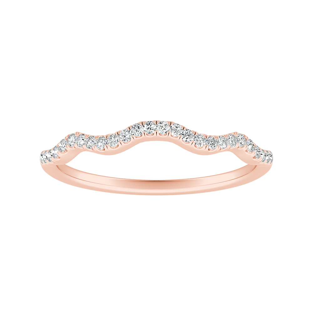 CARINA Diamond Wedding Ring In 14K Rose Gold
