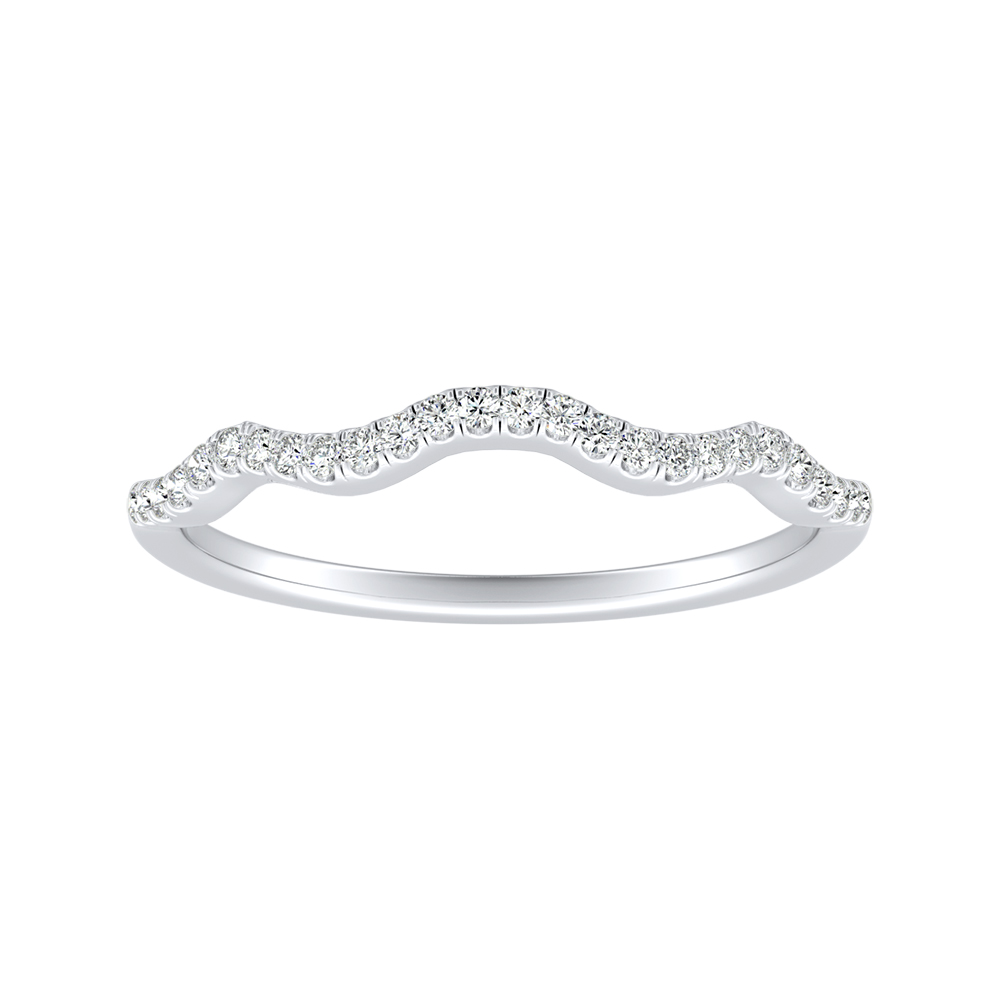 CARINA Diamond Wedding Ring In 14K White Gold