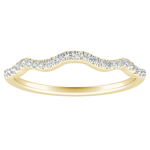 CARINA Diamond Wedding Ring In 14K Yellow Gold