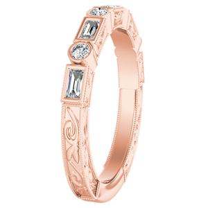 KEIRA Vintage Diamond Wedding Ring In 14K Rose Gold