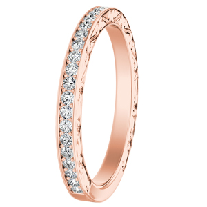 NORA Diamond Wedding Ring In 14K Rose Gold