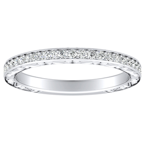 NORA Diamond Wedding Ring In 18K White Gold