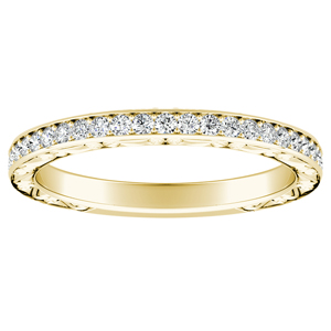 NORA Diamond Wedding Ring In 14K Yellow Gold