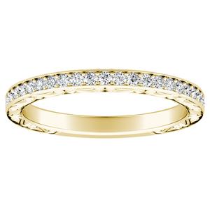 NORA Diamond Wedding Ring In 14K Yellow Gold