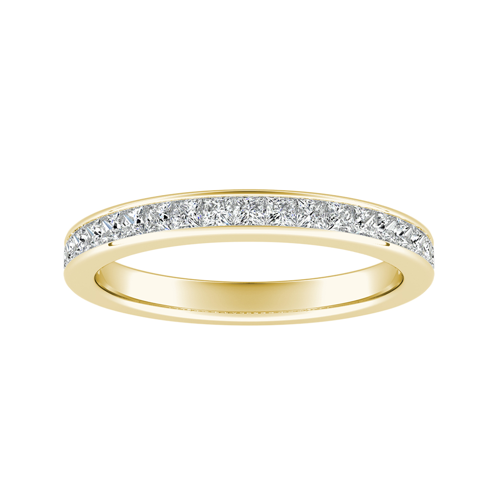 JOAN Classic Diamond Wedding Ring In 14K Yellow Gold