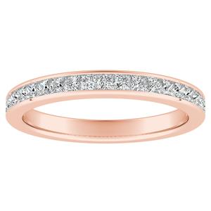 JOAN Classic Diamond Wedding Ring In 14K Rose Gold