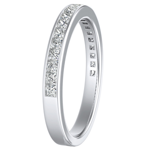 JOAN Classic Diamond Wedding Ring In 14K White Gold