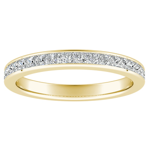 JOAN Classic Diamond Wedding Ring In 14K Yellow Gold