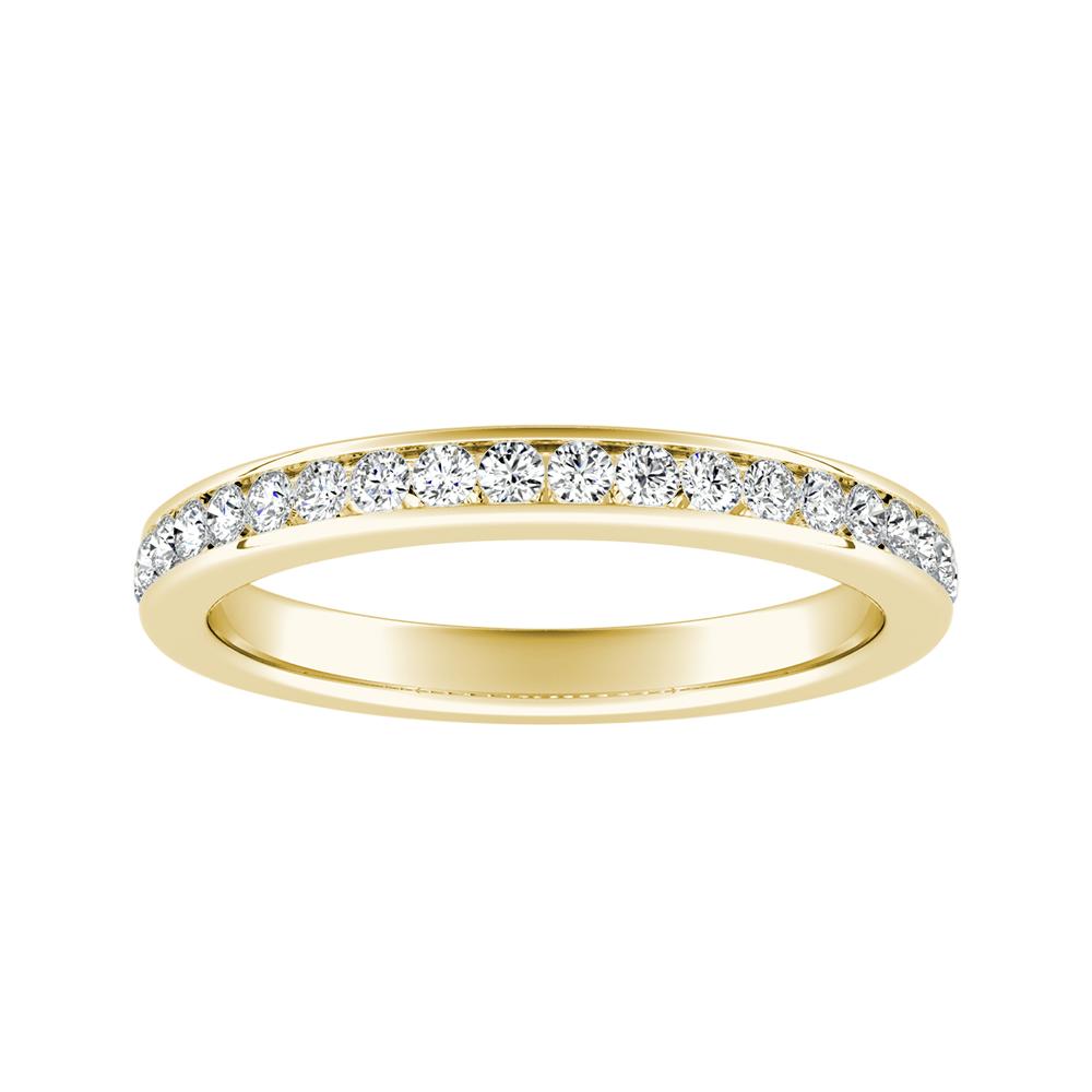ALENA Classic Diamond Wedding Ring In 14K Yellow Gold