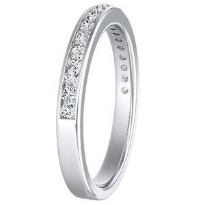 ALENA Classic Diamond Wedding Ring In 14K White Gold