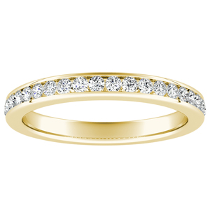 ALENA Classic Diamond Wedding Ring In 14K Yellow Gold