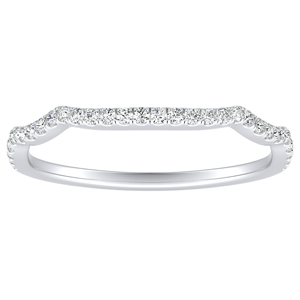 ALICE Diamond Wedding Ring In 14K White Gold