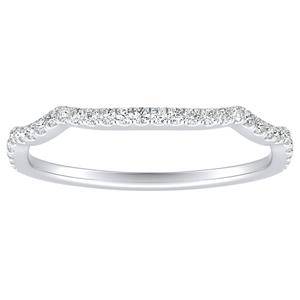 ALICE Diamond Wedding Ring In 14K White Gold