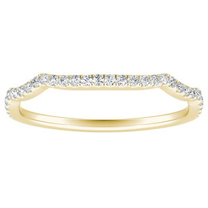 ALICE Diamond Wedding Ring In 14K Yellow Gold