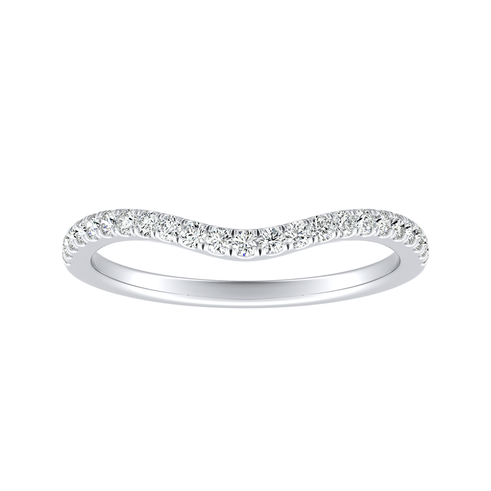 ALYSSA Diamond Wedding Ring In 14K White Gold