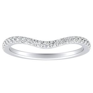 ALYSSA Diamond Wedding Ring In 14K White Gold