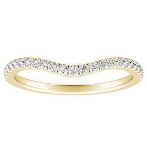 ALYSSA Diamond Wedding Ring In 14K Yellow Gold
