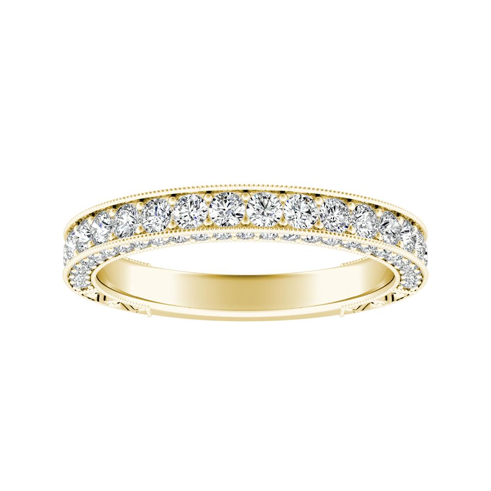 FAITH Vintage Diamond Wedding Ring In 14K Yellow Gold