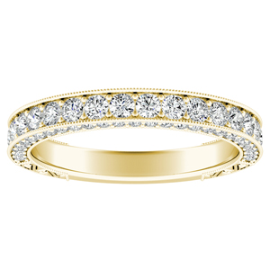 FAITH Vintage Diamond Wedding Ring In 14K Yellow Gold