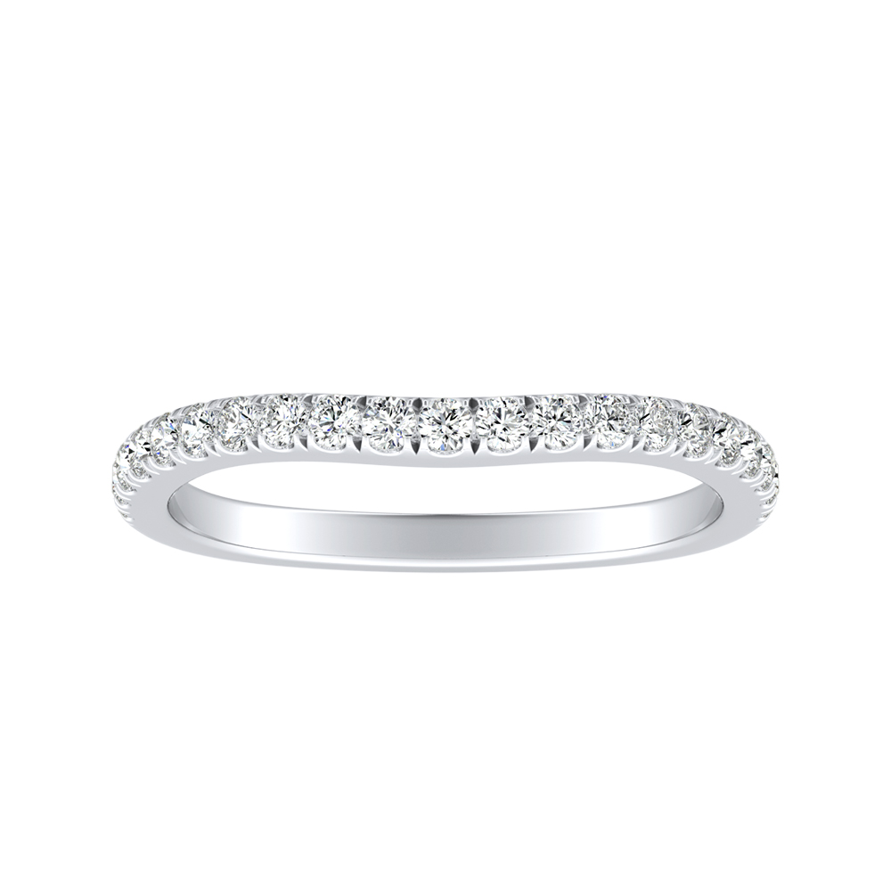 JASMINE Diamond Wedding Ring In 14K White Gold