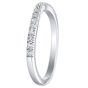 JASMINE Diamond Wedding Ring In 14K White Gold