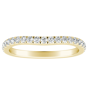 JASMINE Diamond Wedding Ring In 14K Yellow Gold