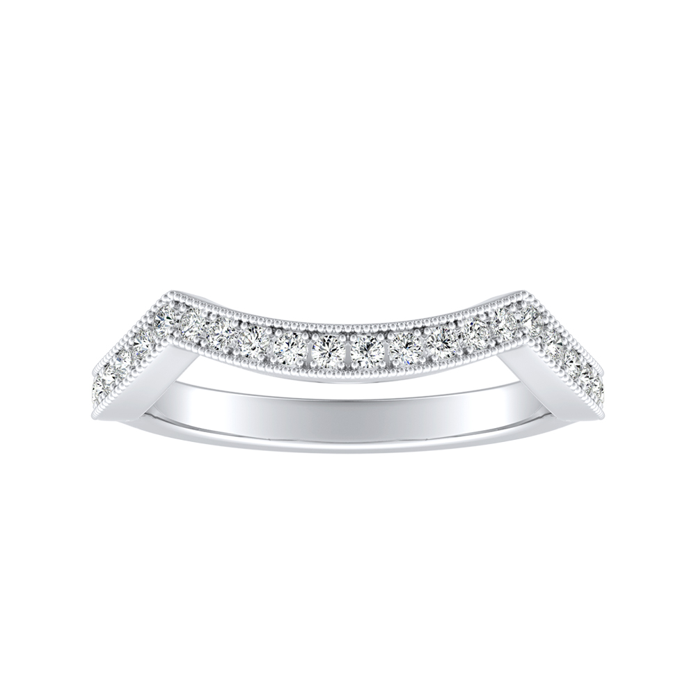 NATALIA Diamond Wedding Ring In 14K White Gold