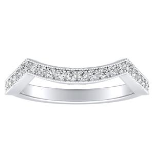NATALIA Diamond Wedding Ring In 14K White Gold