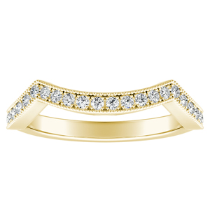 NATALIA Diamond Wedding Ring In 14K Yellow Gold