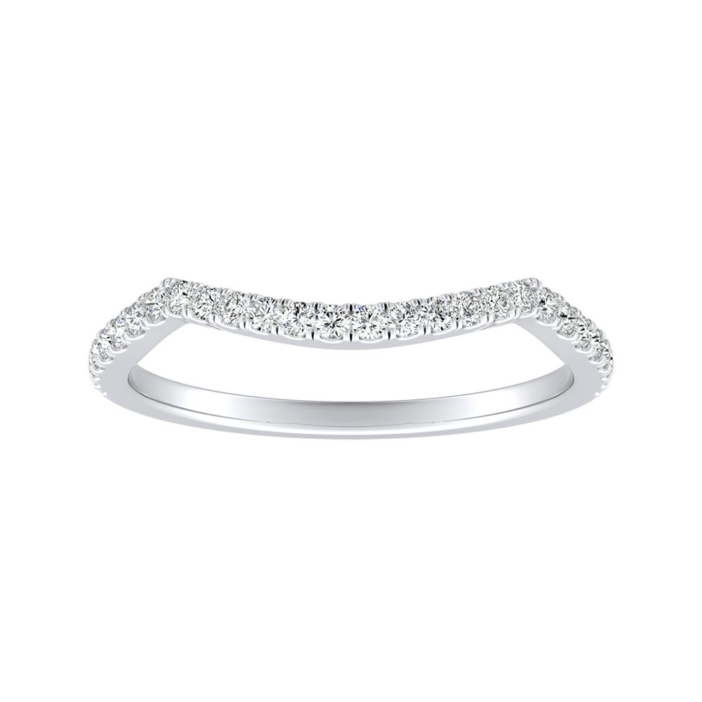 QUINN Diamond Wedding Ring In 14K White Gold