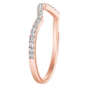 QUINN Diamond Wedding Ring In 14K Rose Gold