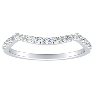 QUINN Diamond Wedding Ring In 14K White Gold
