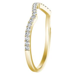 QUINN Diamond Wedding Ring In 14K Yellow Gold