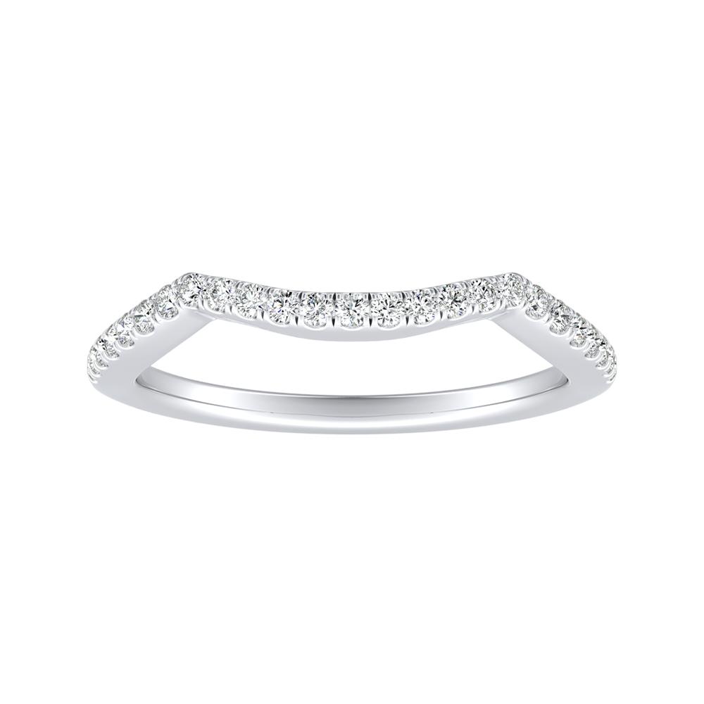 TAYLOR Diamond Wedding Ring In 14K White Gold