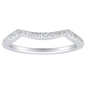 TAYLOR Diamond Wedding Ring In 14K White Gold