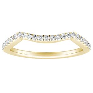 TAYLOR Diamond Wedding Ring In 14K Yellow Gold