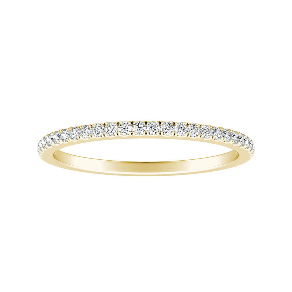 CAROLINE Classic Diamond Wedding Ring In 14K Yellow Gold