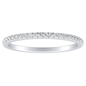 CAROLINE Classic Diamond Wedding Ring In 14K White Gold