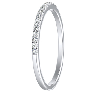 CAROLINE Classic Diamond Wedding Ring In 14K White Gold