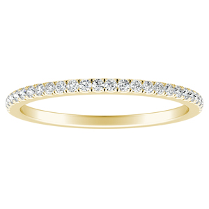 CAROLINE Classic Diamond Wedding Ring In 14K Yellow Gold