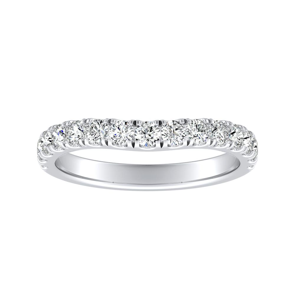 KYLIE Diamond Wedding Ring In 14K White Gold